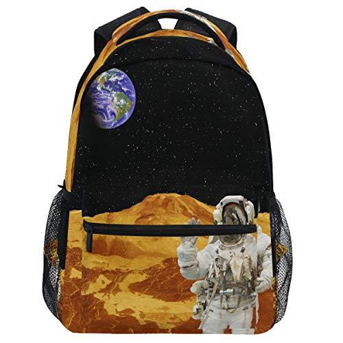 Oarencol Astronaut Universe Space Mochila Bookbag Planets Galaxy Star Daypack Viaje Senderismo Camping Escuela Bolsa Portátil