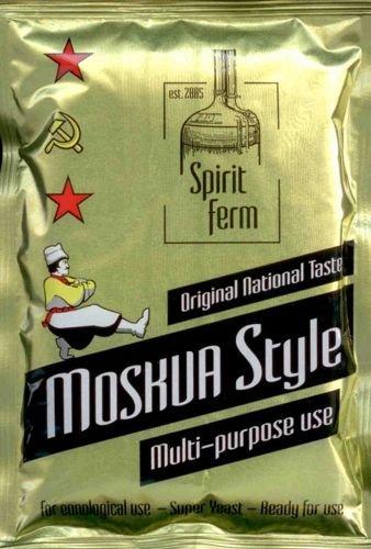 Lievito Turbo Yeast, Moskwa Style, elevata gradazione di alcol, per alcol, vodka, liquore