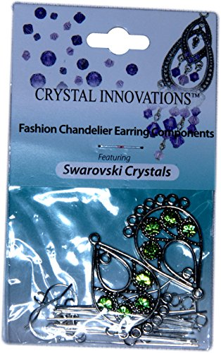 Swarovski Crystal Innovations Peridot Green Chandelier Earring Kit