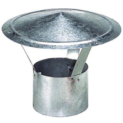 Wolfpack 22010065 - Sombrero para estufa (galvanizado, 100 mm)