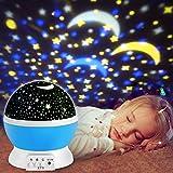 Sternenhimmel Projektor, innislink LED Projektor Lampe Kinder Nachtlicht 360° Rotierend Sterne Lampe Projektionslampe Einschlafhilfe für Kinderzimmer Hochzeit Parteien Geburtstag Mädchen/Jungen - Blau