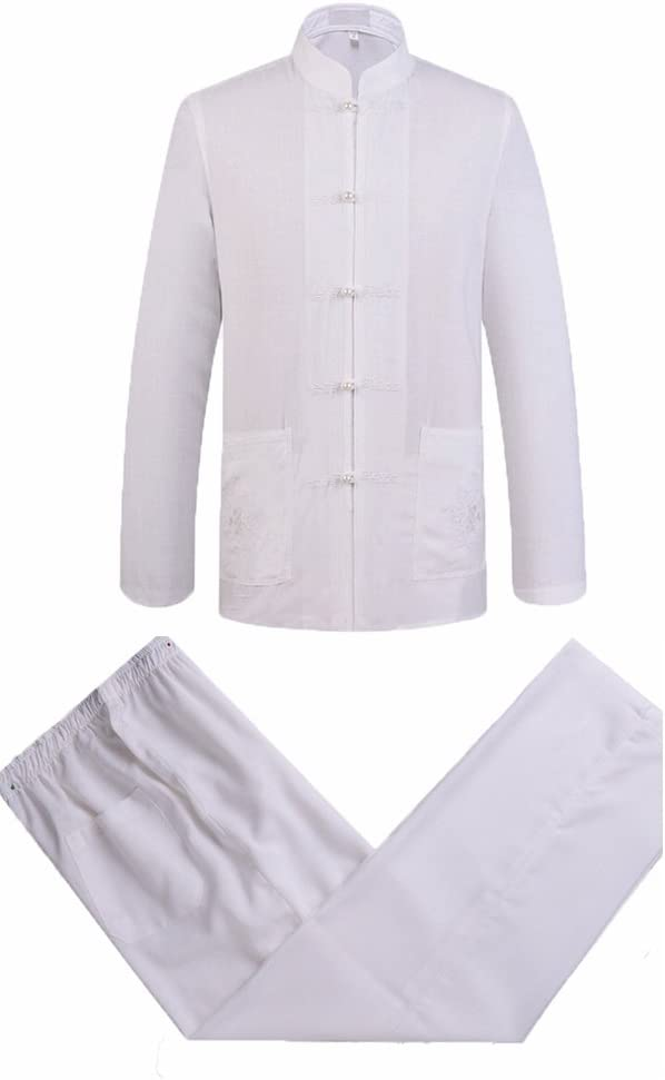 ZooBoo Mens New popularity Chinese Traditional Cotton Linen Sleeve Manufacturer OFFicial shop Long Kung Fu