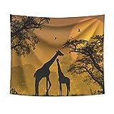 Eine Giraffe Tapisserie Wandbehang Sandy Beach Pad Home Decor Tagesdecke Blatt Wandtuch 150 × 130 cm