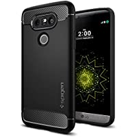 Spigen Funda LG G5, ç [Rugged Armor] Resilient [Black] Ultimate Protection from Drops and impacts Cover Carcasa para LG G5 (2016) - (A18CS20128)