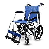 ZDW Multifuncional plegable portátil ultraligero con silla de ruedas de la carretilla no inflable sillón de ruedas mayor