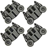 4 Pack W10195417 UPGRADED Dishwasher Wheels Lower Dish rack Wheel for Kitchen-Aid Whirlpool Kenmore Dishwasher Rack Roller Replacement Part Number WPW10195417 AP4538395 AP6016764 PS2579553 PS11750057