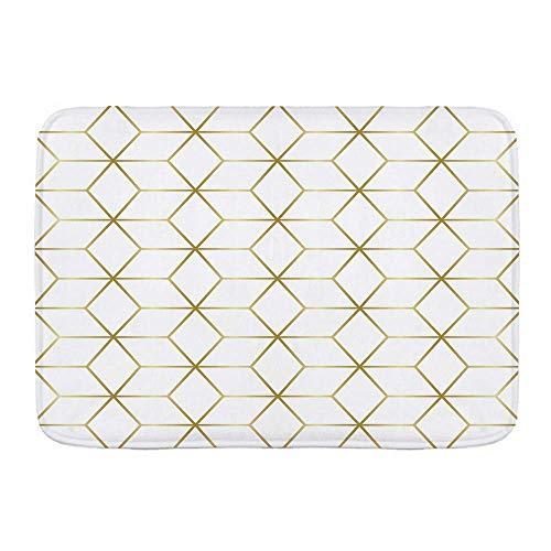 Alfombra de baño, Lujosa baldosa de Mosaico de mármol con diseño de Patrones sin Fisuras, alfombras de Felpa para decoración de baño con Respaldo Antideslizante