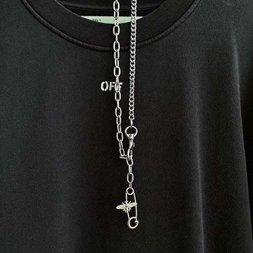 Collares Colgante Joyas Hip Hop Bee Pin Collar Hombres Y Mujeres Colgante Colgante Accesorios Suéter Cadena-01