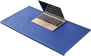 Grand tapis de souris de luxe en cuir avec protection des bords, tapis d'écriture lisse et imperméable pour clavier d'ordi...