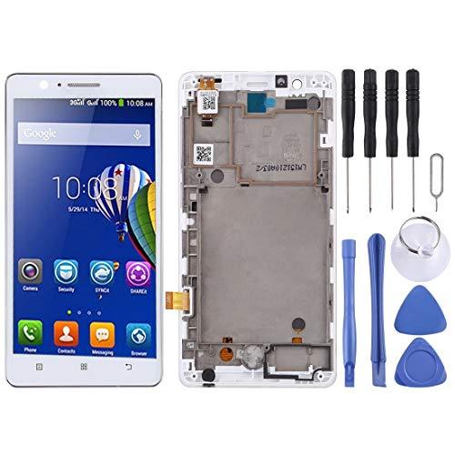 SPAREPARTS - Piezas de Repuesto para el teléfono con Pantalla LCD y digitalizador, Montaje Completo con Marco para Lenovo A536 (Blanco) Piezas de Repuesto