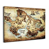 peter pan artwork - LP ART Canvas Print Wall Art Peter Pan Map of Neverland Picture Painting for Kids Baby Bedroom Modern Home Decor Ready to Hang Stretched and Framed Artwork 16''x20''