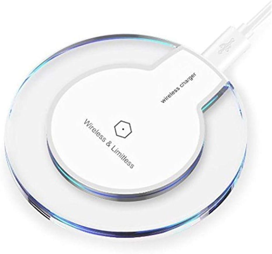 Flytise Carga rápida del teléfono inalámbrico ultrafino QI para teléfonos inteligentes estándar y todos los QI de iPhone