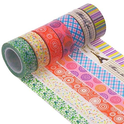 Leorx decorativo Craft Washi tape 100x 1.5cm–10pezzi