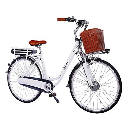 LLOBE City E-Bike White Motion 2.0, 28 Zoll, Akku 36V / 13.2Ah, 250 Watt Motor