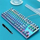 KSFC Tastiera Meccanica Punk, Tastiera Con Asse Verde, Tastiera Per Ufficio Da Gioco, Tastiera Per Notebook Desktop