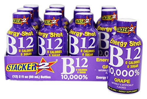 Stacker 2 - B-12 Energy Shot Grape 2oz 12 Pack