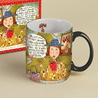 Artistic 14oz. LANG Coffee Mug - Titled: CAPICHE featuring the artwork of Karen H. Good w/ cute quote....
