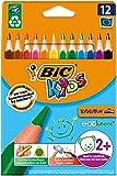 BIC Kids Evolution Triangle ECOlutions Lápices de colores Triangulares - colores Surtidos, Blíster de 12 unidades