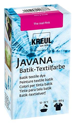 Kreul 98537 - Javana Batik Textilfarbe, zum Färben von Textilien mit der Shibori Technik, 70 g Farbpulver in The real Pink