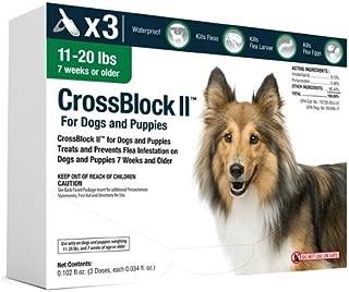 CrossBlock II Flea Preventative for Dogs 11-20 Lbs. (3-Pack)
