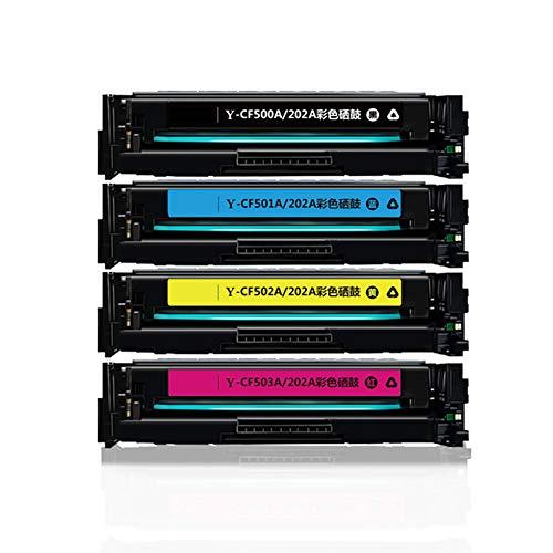 XHJZ Kompatible Toner Cartridge Ersatz für Y-CF500A / 202A HP MFP M254DN; M254DW; M254NW; M280NW; M281CDW; M281 FDN; M281 FDW Drucker-Tinte (Schwarz Cyan Gelb Magenta, 4-Pack),with chip