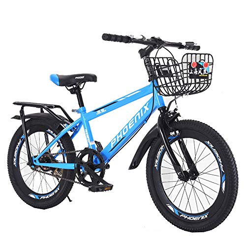 BAOMEI Kids Bike Kids Outdoor Bicycle,18/20 Inch,for 7-14Years Old Boys and Girls Adjustable Children Mountain Bike (Color : Blue)