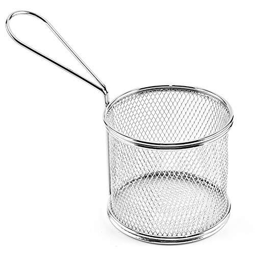 Chips Fry Manden RVS Mini Fryer Basket Zeef Het Dienende Voedsel Presentatie Koken Tool French Fries Basket