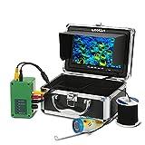 Lixada Fischfinder Unterwasserfischen Kamera 7 Zoll 1000TVL 12LED Infrarotlampe Lichter mit 15M Kabel EU Stecker