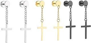 Earring Women Men Geometric Fashion Cross Shape Metal Earring Drop Earring Hoop Earring for Female Friends Women Seaside H...
