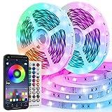 TVLIVE Striscia LED 20M,600 Led Strisce Led RGB 5050 Musicale,16 Milioni di Colori,Funzion...