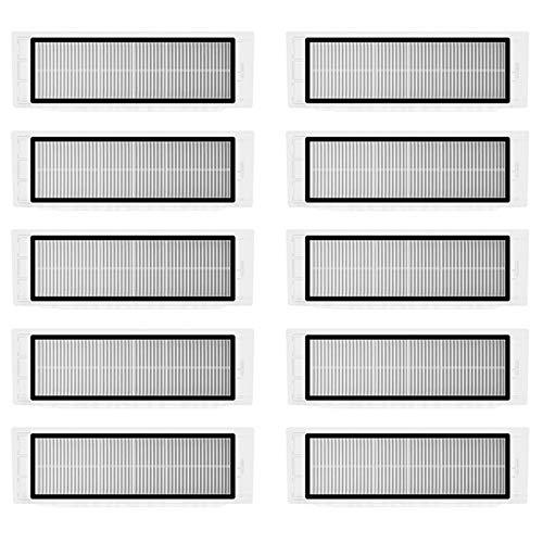 Lot de 10 filtres HEPA pour Xiaomi Roborock S6 S5 MAX S60 S65 S5 S50 S55 E25 E35