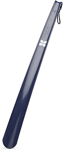 Blue Badge Co Long Handled Navy Plastic Shoe Horn with Comfort Grip Made in Britain