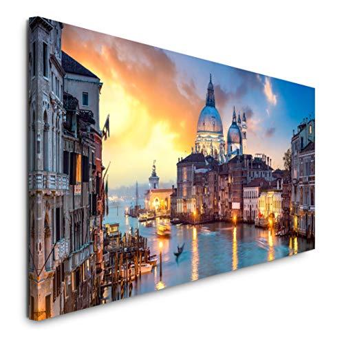 Paul Sinus Art GmbH Venedig Panorama 120x 50cm Panorama Leinwand Bild XXL Format Wandbilder Wohnzimmer Wohnung Deko Kunstdrucke