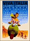 A SLICE IN TIME Viva Italia Girl on Vespa Italy Italian European Europe Travel Advertisement Art Collectible Wall Decor Poster Print. Measures 10 x 13.5 inches
