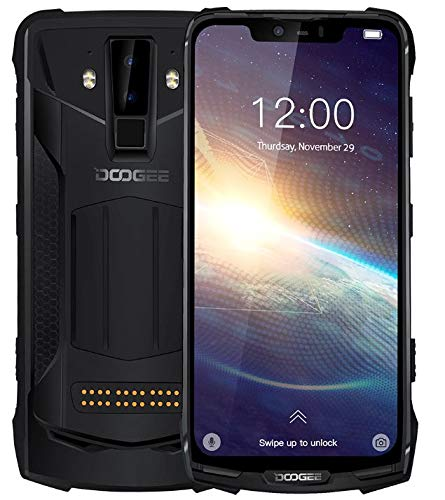 "DOOGEE S90 Pro Android 9.0 Móvil Antigolpes - Helio P70 Octa-Core 6GB + 128GB, IP68 Impermeable Teléfono Resistente, Pantalla de 6,18"" FHD+, 16MP + 8MP, 5080mAh Batería, Carga Inalámbrica NFC GPS."