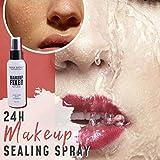 Spray fijador de maquillaje, spray fijador de maquillaje de 100 ml, textura duradera, spray fijador,...
