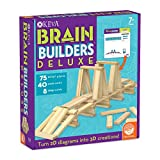 MindWare Keva Brain Builders Deluxe: 75 KEVA Planks, 40 Puzzle Cards, 8 Design Cards, 3D Building Skills for Kids
