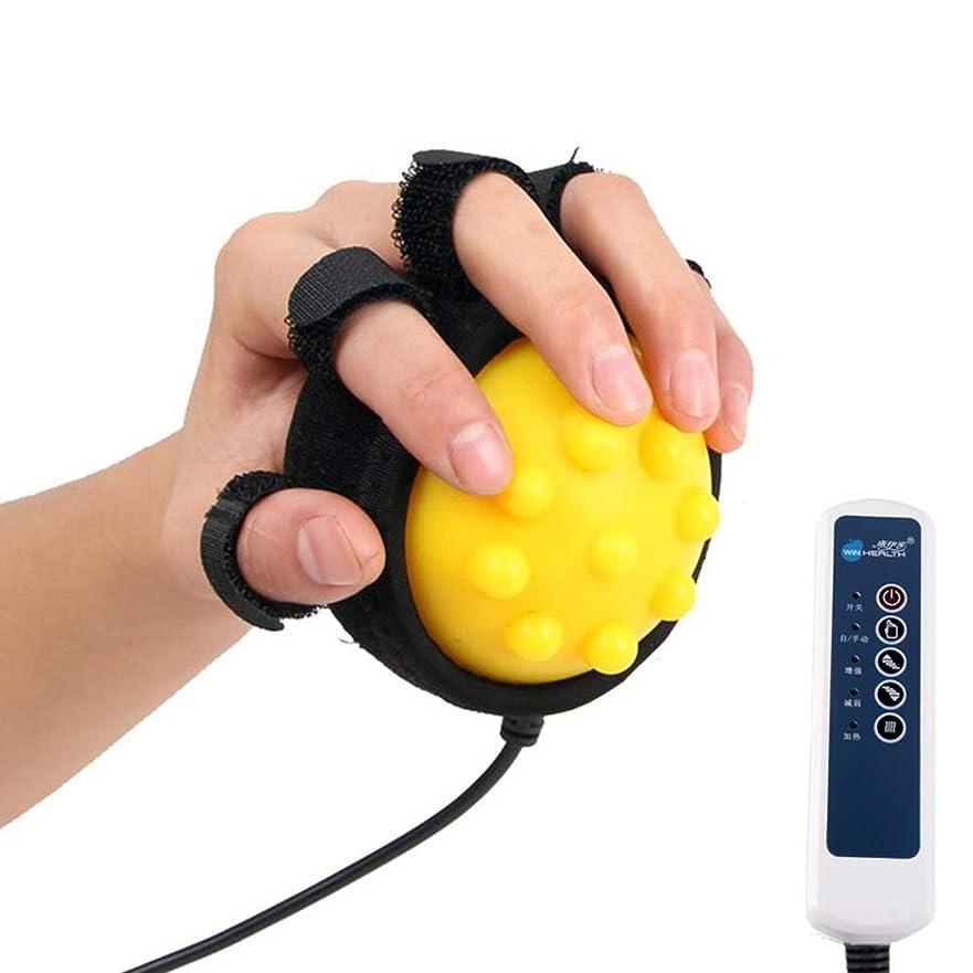 寝る間クローン電気指のマッサージボールの熱い圧縮および反痙縮ボールの添え木、手機能障害のリハビリテーションの練習