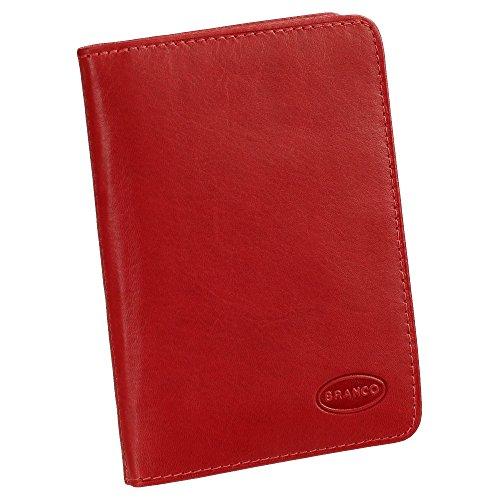 Ausweisetui Ausweishülle Ausweismappe Ideal fürs Auto echt Leder Rot