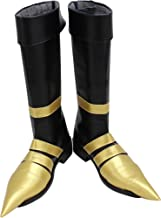 Mingchuan Whirl Cosplay Boots Shoes for Final Fantasy 7 Vincent Valentine Gold