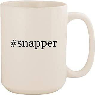 #snapper - White Hashtag 15oz Ceramic Coffee Mug Cup