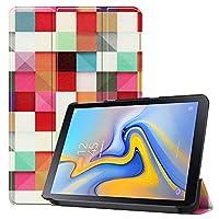 タブレットケース用 マジックキューブパターン色付き塗装水平フリップPUレザーケース(ギャラクシータブAdvanced2 / T583用)、三つ折りホルダー付き