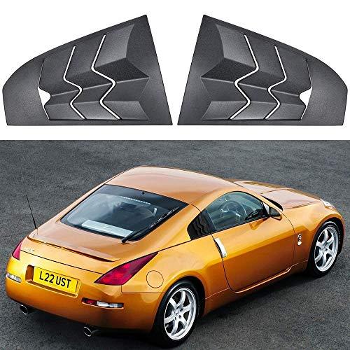 Rejilla lateral para ventana de coche, color negro mate, con visera de hierro ABS, para rejilla de ventana de coche Nissan 350Z 2003-2008