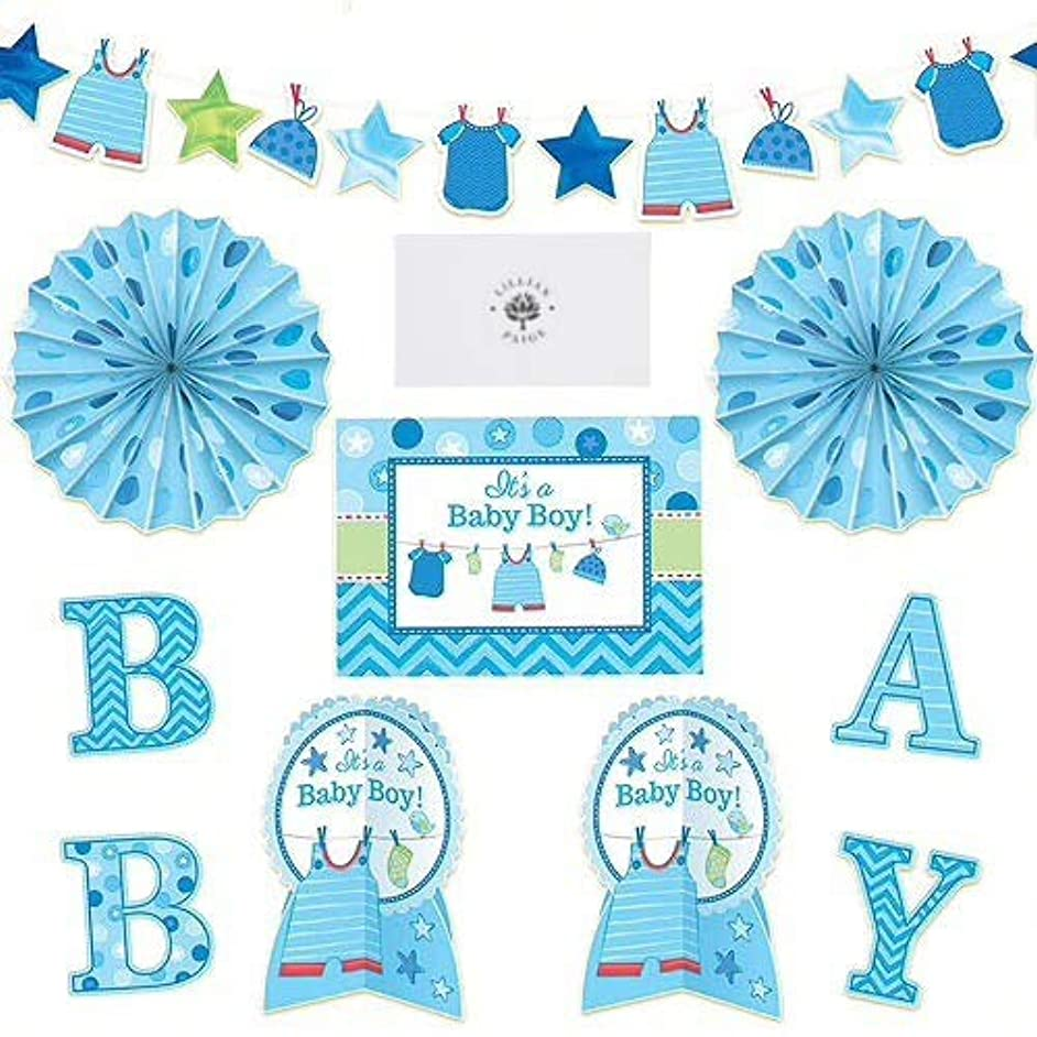 Baby Shower Party Paper Decorations Supplies for Boy