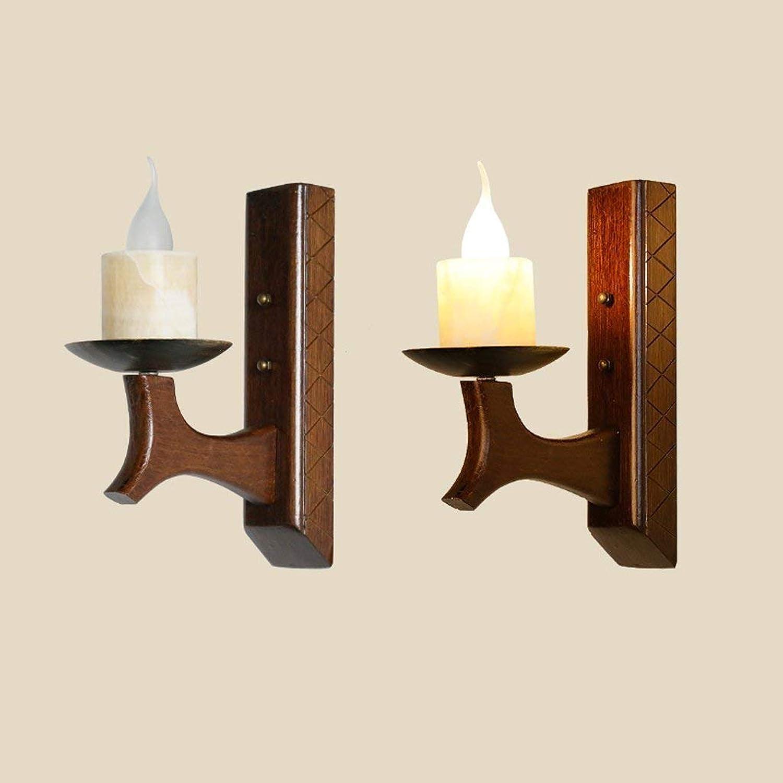 Noulerd Self-SGrößetion-Wand, Lampen, Wand-Elegantes Lnder-Festes Holz-kreative hlzerne Speicher-Lampen-Mode