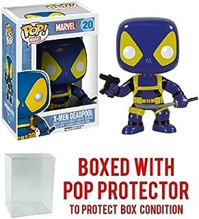 Funko Pop! Marvel: X-Men Blue Outfit Deadpool #20 Vinyl Figure (Bundled with Pop BOX PROTECTOR CASE)