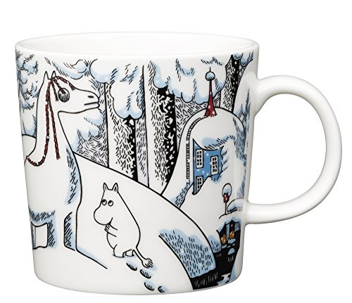 Iittala Mumin / Moomin Schneepferd Becher, Kaffeebecher, Teetasse, Kaffee Tasse, Vitroporzellan, 300 ml, 1020757