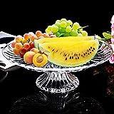 Bandeja para Tartas de Cristal - Ideal para Postres, Tortas, Frutas,...