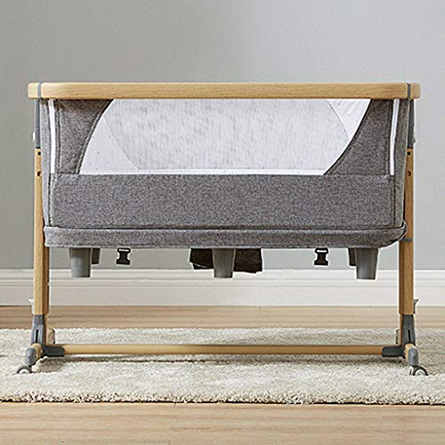 Amazing Deal Baby Bed Baby Cot Next to Me Cribs Co-Sleeping Easy Folding Adjustable Portable Travel ...