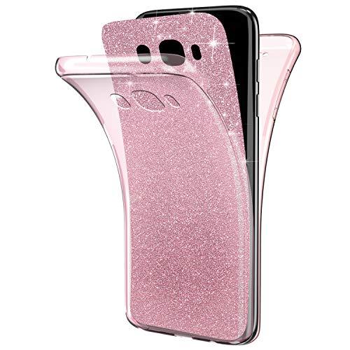 QPOLLY Compatible con Samsung Galaxy J7 2016, funda brillante y brillante, 360...